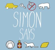 Simon Says (White Lettering) Kids Tee