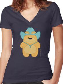 CowBear - Blond Women's Fitted V-Neck T-Shirt