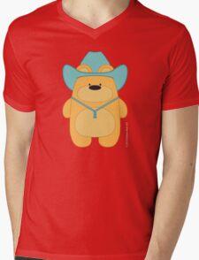 CowBear - Blond Mens V-Neck T-Shirt