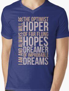 the optimist Mens V-Neck T-Shirt