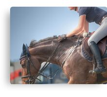 Horse and Rider #2 Canvas Print