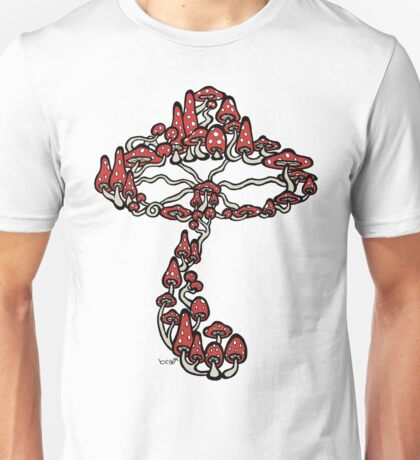 Mushroom made of Mushrooms (red version) Unisex T-Shirt