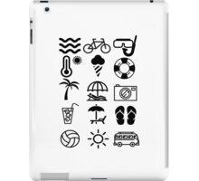 summer icons iPad Case/Skin
