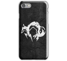 Foxhound V2 (White) iPhone Case/Skin