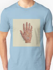 Hand with acupressure points Unisex T-Shirt
