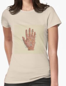 Hand with acupressure points Womens Fitted T-Shirt