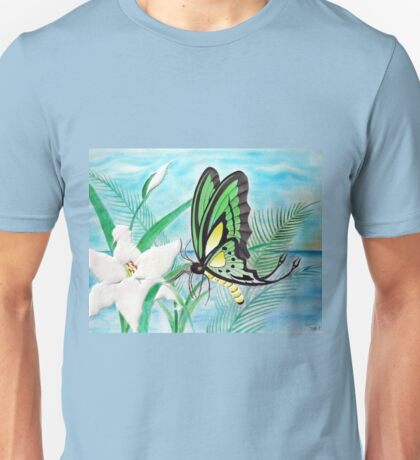 Butterfly and Lily Pastel Unisex T-Shirt
