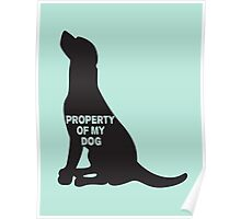 Property of my dog Poster