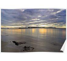 Penguin Island Sunset Poster