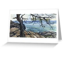 bowen island ocean rocks trail Greeting Card
