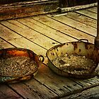 Gold Dust Pans by pat gamwell