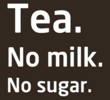 Tea. No milk. No sugar. by bitrot