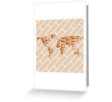 Bricks world map Greeting Card
