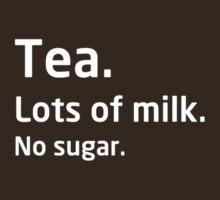Tea. Lots of milk. No sugar. by bitrot