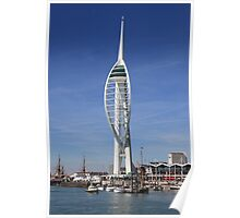 Spinaker, Tower, Portsmouth, Hampshire, Poster