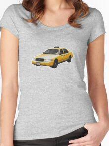 Taxi Cab Groove Women's Fitted Scoop T-Shirt