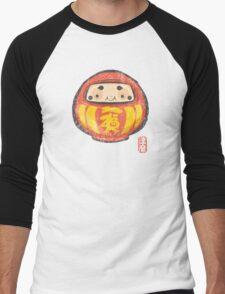 Daruma [Special Lucky Toy Box] Men's Baseball ¾ T-Shirt