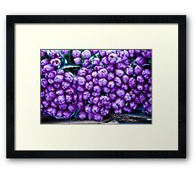 A Crush Of Tulips Framed Print