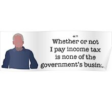 Income Tax Guy Parks and Recreation Poster