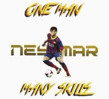 Neymar : One Man, Many Skills Kids Tee