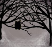 Spooky Night Owl Sticker