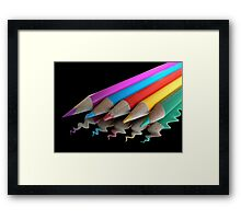 Watercolours (black background) Framed Print