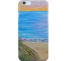Lake Michigan sunset, landscape painting, wall art , home decor iPhone Case/Skin