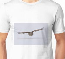 Great Grey Owl Cruising Unisex T-Shirt