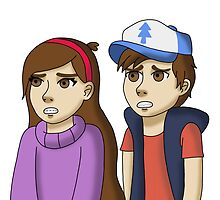 Dipper and Mable by bambi-drawings