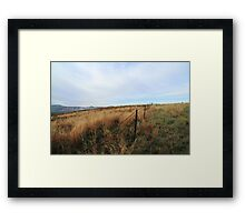 Barbed Wire Fence - Mt Parnassus Framed Print