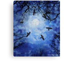 Halloween Witch Hunt Canvas Print