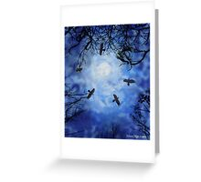 Halloween Witch Hunt Greeting Card