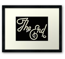 THE END - MOVIE CREDITS Framed Print