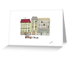 Budapest and the wandering cat Greeting Card