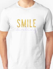 Smile Darling - Lilac & Gold Unisex T-Shirt