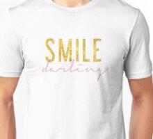 Smile Darling - Pink & Gold Unisex T-Shirt