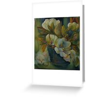 MAGNOLIAS, BLUE BUCKET, CAT NAP Greeting Card