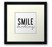 Smile Darling - Black and White Framed Print