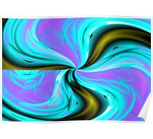 Swirly flower abstract artwork Poster