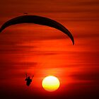 Sunset Paragliding by thefinalmiracle