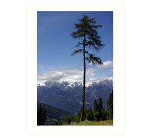 Overlooking Stubaier Alps  Art Print