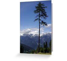 Overlooking Stubaier Alps  Greeting Card