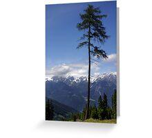 Overlooking Stubaier Alps  Greeting Card