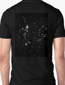 Stars // Black Background // White Circles Unisex T-Shirt