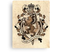 Gryphon Coat Of Arms Heraldry Canvas Print