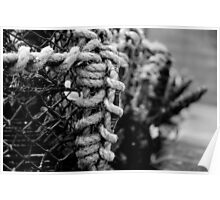 Lobster Pot (B&W) - Seahouses Harbour, UK Poster