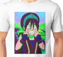 Toph Beifong - psychedelic friendly reminder that she's blind Unisex T-Shirt