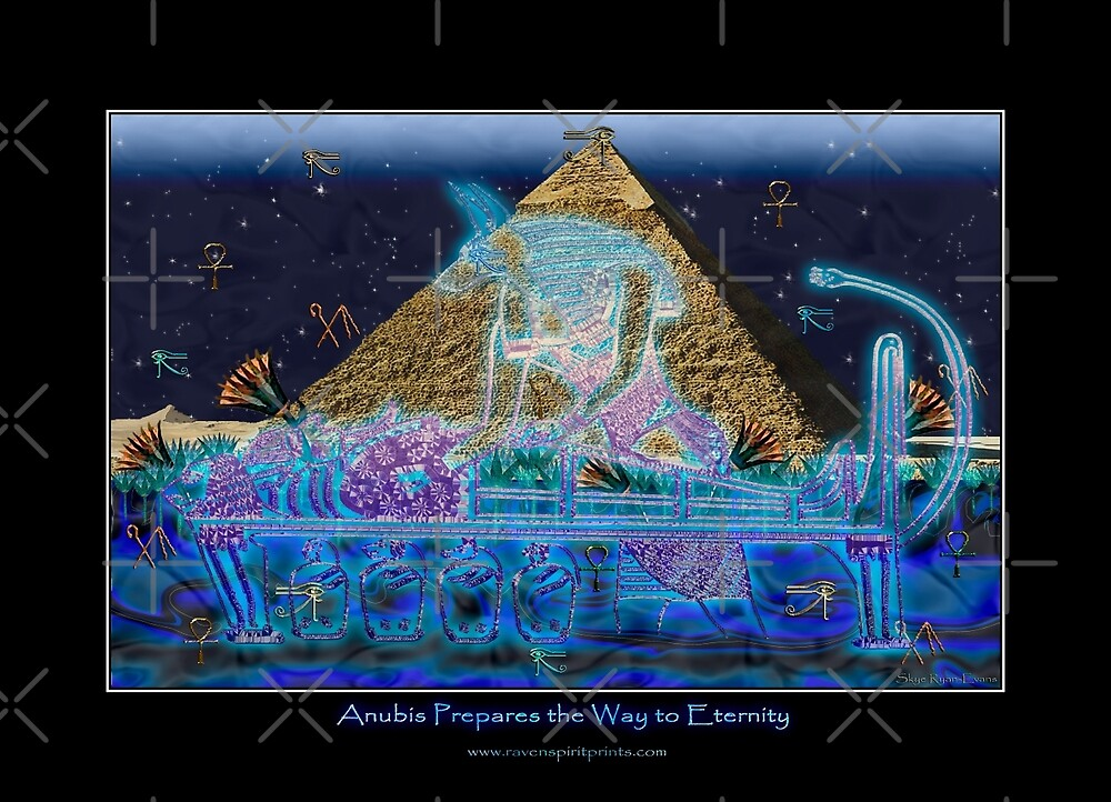 """Anubis Prepares the Way To Eternity"" by Skye Ryan-Evans"