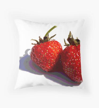 Mmmmm....strawbs Throw Pillow