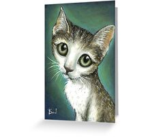 Graceful tabby portrait Greeting Card